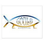 Gould Fish! Not Darwin Fish. Small Poster