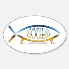 Gould Fish! Not Darwin Fish. Oval Decal