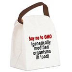 Say no to GMO - Canvas Lunch Bag