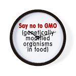 Say no to GMO - Wall Clock