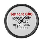 Say no to GMO - Large Wall Clock