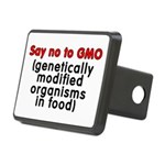 Say no to GMO - Rectangular Hitch Cover