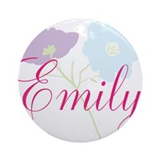 Emily Flower Girl Ornament (Round)