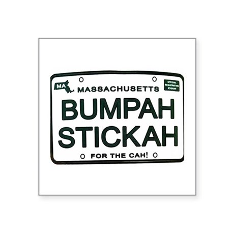 "Bumpah Stickah Square Sticker 3"" x 3"""
