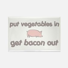 Get Bacon Out Rectangle Magnet