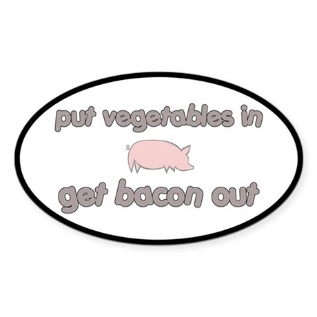 Get Bacon Out Sticker (Oval)