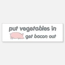 Get Bacon Out Bumper Bumper Sticker