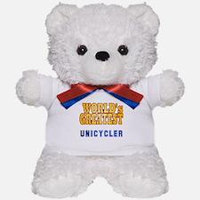 World's Greatest Unicycler Teddy Bear