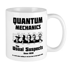 Quantum Mechanics-The Usual Suspects Small Mug