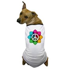 Flower of Peace Dog T-Shirt