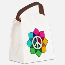 Flower of Peace Canvas Lunch Bag