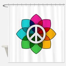 Flower of Peace Shower Curtain