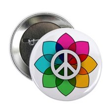 """Flower of Peace 2.25"""" Button"""