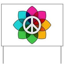 Flower of Peace Yard Sign