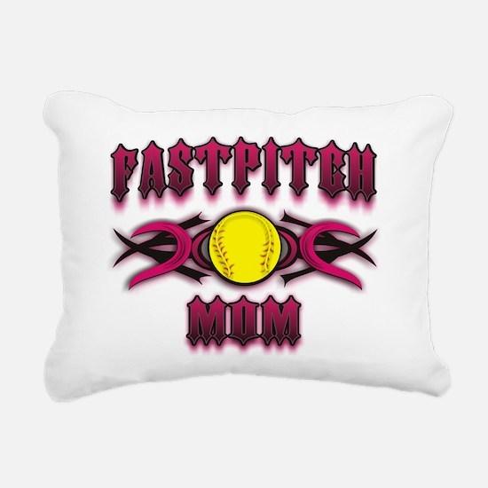 Tribal Fastpitch Mom Rectangular Canvas Pillow