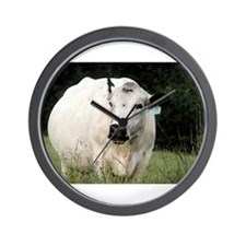 British White Cow - Color #2 Wall Clock