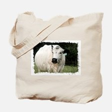 British White Cow - Color #2 Tote Bag