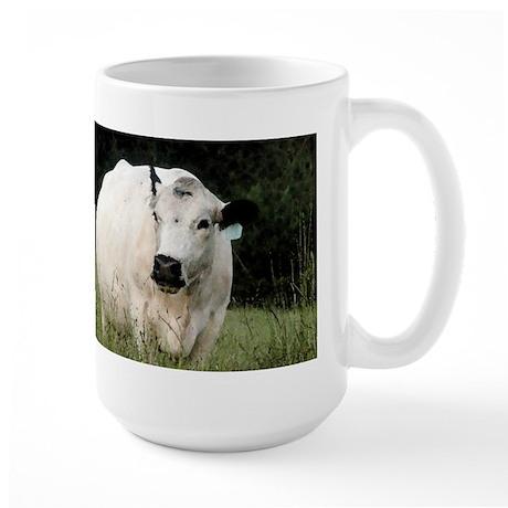 British White Cow - Color #2 Large Mug