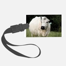 British White Cow - Color #2 Luggage Tag