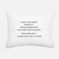 Love your Skin? Rectangular Canvas Pillow