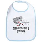 Snakes On A Plane Bib