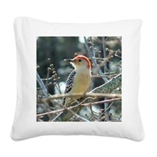 Red-bellied Woodpecker Square Canvas Pillow