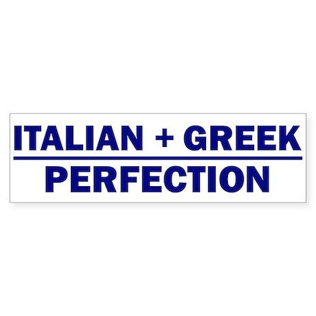 Italian + Greek Bumper Sticker