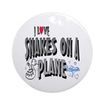 Snakes On A Plane Ornament (Round)
