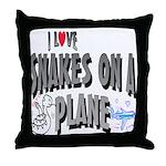 Snakes On A Plane Throw Pillow