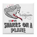 Snakes On A Plane Tile Coaster