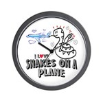 Snakes On A Plane Wall Clock