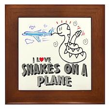 Snakes On A Plane Framed Tile