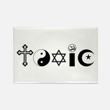 Religion is Toxic Rectangle Magnet