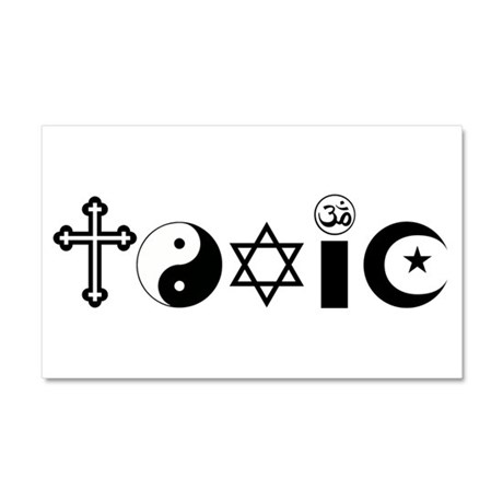 Religion is Toxic Car Magnet 20 x 12