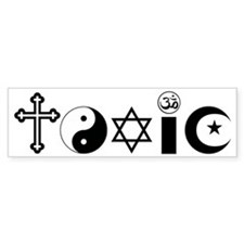 Religion is Toxic Bumper Sticker