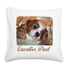 Cavalier Dad Square Canvas Pillow
