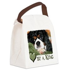 Loved By a King Charles Canvas Lunch Bag