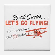... lets go FLYING! Tile Coaster