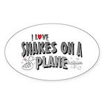 Snakes On A Plane Oval Sticker