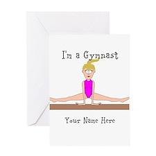 Gymnast Greeting Card