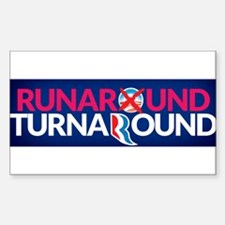 Runaround Turnaround Sticker (Rectangle)