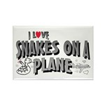 Snakes On A Plane Rectangle Magnet (10 pack)
