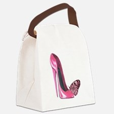 Pink Stiletto Shoe and Butterfly Art Canvas Lunch