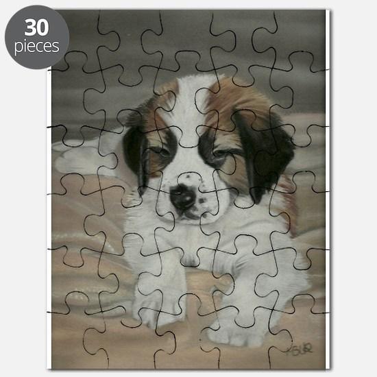 saint bernard puppy Puzzle
