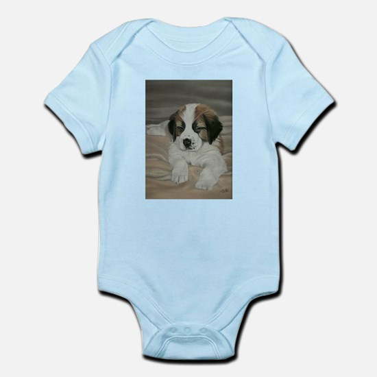 saint bernard puppy Infant Bodysuit