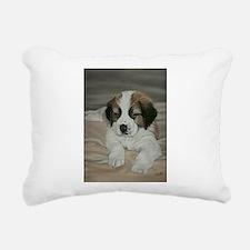 saint bernard puppy Rectangular Canvas Pillow