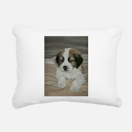 saint bernard puppy Rectangular Canvas Pillow