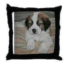saint bernard puppy Throw Pillow
