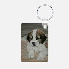 saint bernard puppy Keychains