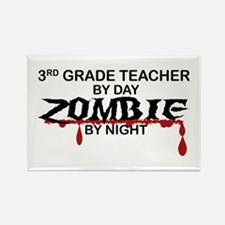 3rd Grade Zombie Rectangle Magnet